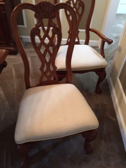 After our Furniture cleaning service done on chairs in Raleigh, NC
